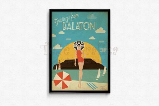 Balaton-utazás, poszter, falikép, fali dekoráció, lakberendezés, faldíszítés, ajándék ötlet